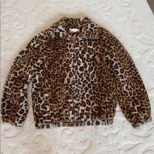 NWOT Wishlist Faux Fur Leopard Jacket